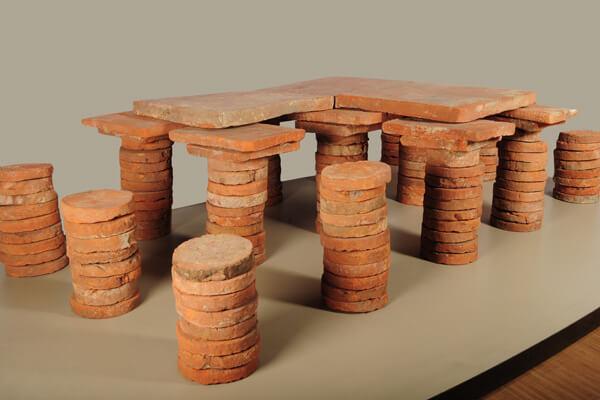 Hypocaustum, het vloerverwarmingssysteem van de Romeinen.